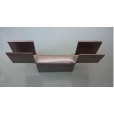 Кляммер двойной гнутый для плоского шифера ИП-РИММ 10