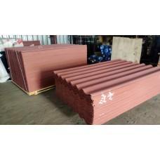 Шифер цветной красно-коричневый (Сухой Лог) 1750*1130*5,2мм
