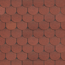Черепица Шинглас Танго бобровый хвост (красный)
