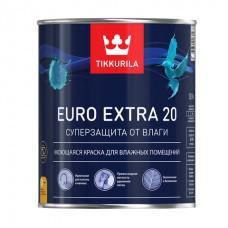 Краска Евро EXTRA 20 База А 2,7 латексная, для внутренних работ, полуматовая Тиккурила
