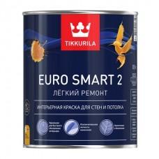 Краска Евро SMART 2 База А 9,0л латексная, для внутренних работ, глубоко матовая Тиккурила