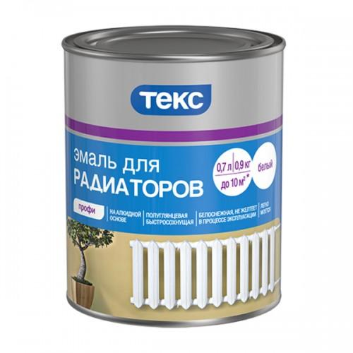 Эмаль алкидная для радиаторов ПРОФИ белая п/гл 0,55кг ТЕКС