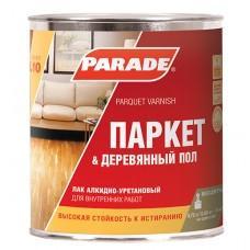 Лак паркетный алкидно-уретановый Парад L10 глянцевый, 10л