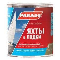 Лак яхтный алкидно-уретановый Парад L20 глянцевый, 10л
