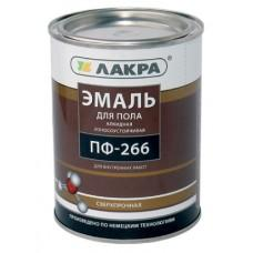 Эмаль ПФ-266 желто-коричневая 20кг Лакра