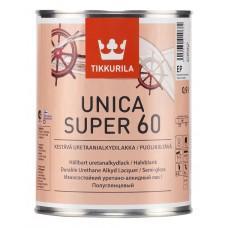 Лак Уника-супер ЕР 60 полуглянцевый 0,9л уретаново-алкидный Тиккурила