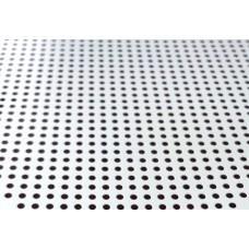 Панель Альконпласт ОС Profi Т24 К45 (Тегулар),595*595 белый матовый-3306 с перф. 1,8мм. алюм.0,32 В3