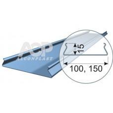Рейка S-профиль белый матовый-3306, 100*3000 алюм.0,40 мм Альконпласт/Cesal 247