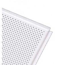 Панель ОС Т24 К90 595х595 белый мат.-3306 перф. d=2.0 В3 алюм.0,45