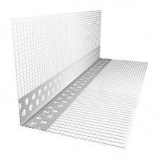 Уголок ПВХ с армирующей сеткой 145г/м2 10*15*2500мм 50шт/уп
