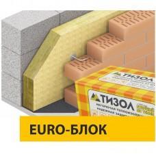 Базальтовая вата Тизол EURO-БЛОК, 50кг/м3 (1000x600x100x6)