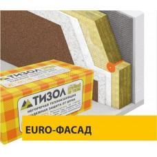 Базальтовая вата Тизол EURO-ФАСАД ОПТИМА, 110кг/м3 (1000x600x100x3)