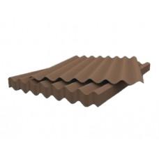 Лист асбоцементный (шифер) волновой коричневый 1750*1130*5,2мм