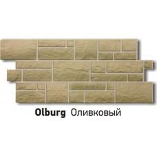 Фасадная панель Деке Бург, оливковый