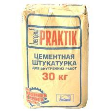 Штукатурка цементная для внутренних работ Бергауф Практик, 30кг