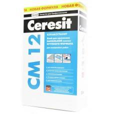 Клей для плитки и керамогранита Церезит СМ12 для напольных работ, 25кг