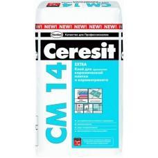 Клей для плитки и керамогранита Церезит СМ14 Экстра, 5кг,