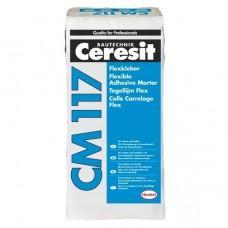 Эластичный клей для плитки и керамогранита Церезит СМ117, 25кг