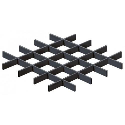 Грильято 100х100 черный матовый Эконом (Ст. 0,3 мм)