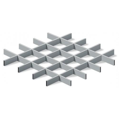 Грильято 100х100 металлик матовый Эконом (Ст. 0,3 мм)