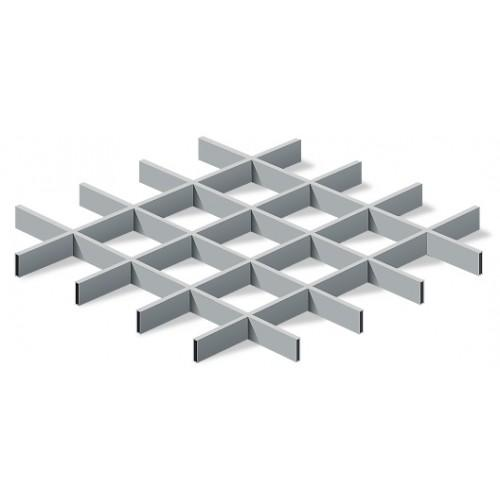 Грильято 100х100 металлик матовый Стандарт (Ст. 0,4 мм)