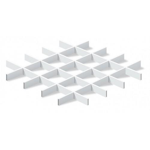 Грильято 100х100 белый матовый Эконом (Ст. 0,3 мм)