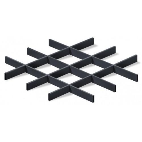 Грильято 150х150 черный матовый Стандарт (Ст. 0,4 мм)