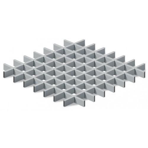 Грильято 50*50 металлик матовый Эконом (Ст. 0,3 мм)