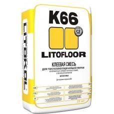 Клей для плитки и керамогранита Литофлур К66 по неровным основаниям, 25кг