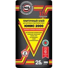 Клей для плитки и керамогранита Юнис 2000, 25кг