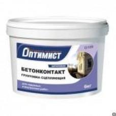 Грунтовка Бетонконтакт Оптимист для наружных и внутренних работ, 12кг