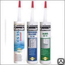 Герметик Церезит CS23 для стекла силиконовыйкартридж,280мл