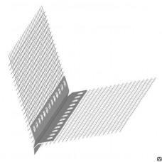 Профиль-капельник ПВХ с армирующей сеткой 125*125*2500мм