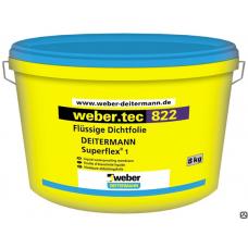 Гидроизоляционная полимерная мастика Вебер.тек 822 серый, 8кг