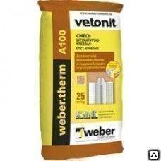 Штукатурно-клеевая смесь для монтажа пенополистирола  Вебер.Терм ЕПС, 25кг