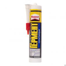 Герметик Момент Гермент санитарный силиконовый белый (туба), 85мл