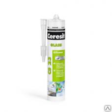 Герметик Церезит CS23 для стекла силиконовый прозрачный (картридж), 280мл