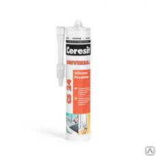Герметик Церезит CS24 универсальный силиконовый прозрачный (картридж), 280м